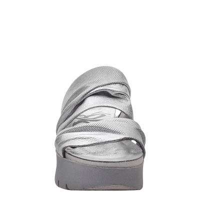 Womens wedge sandals Weekend in silver front