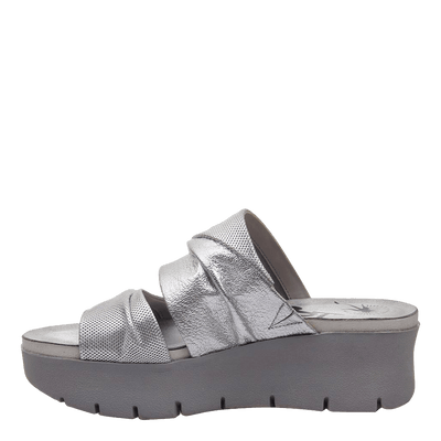 Womens wedge sandals Weekend in silver inside