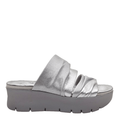Womens wedge sandals Weekend in silver side