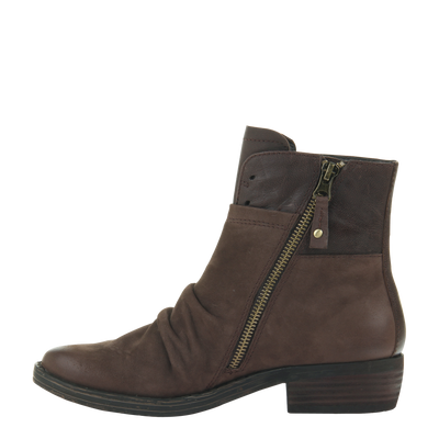 Womens ankle boot yokel in dark brown inside