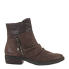 Womens ankle boot yokel in dark brown side