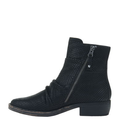 Womens ankle boot yokel in new black inside