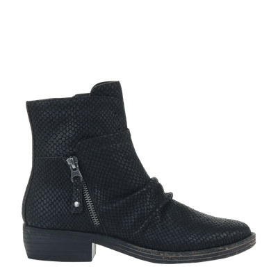 Womens ankle boot yokel in new black side