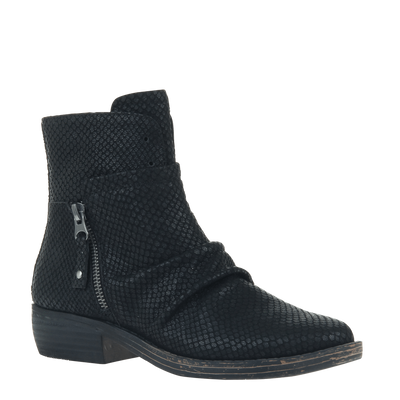 Womens ankle boot yokel in new black
