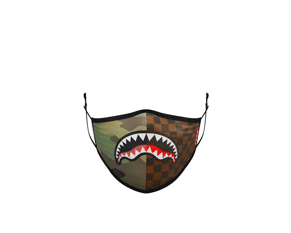 Check&Camo Form Fitting Face Mask