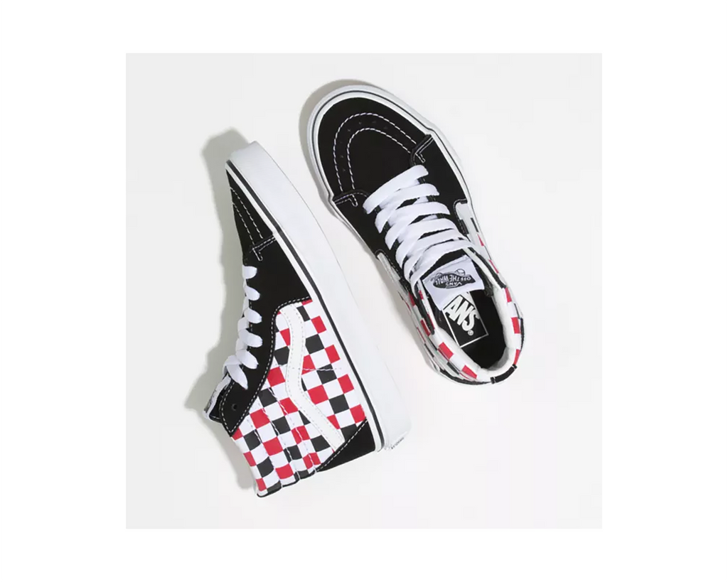 (CHECKERBOARD) BLACK RACING RED