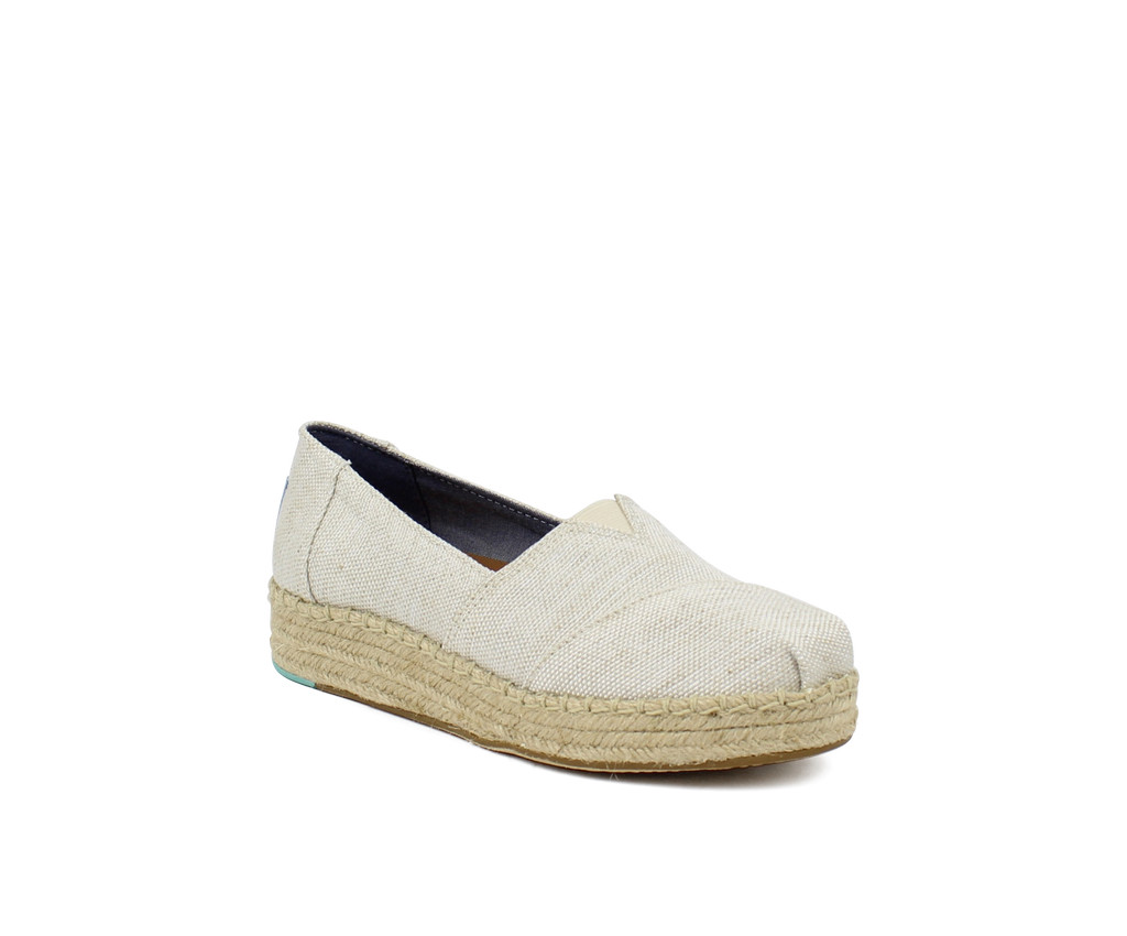 WOMEN`S PLATFORM ALPARGATA NATURAL YARN
