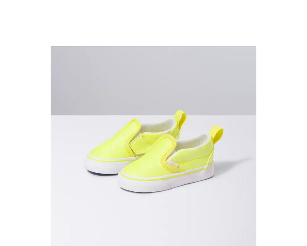 Toddler Slip-On V (Neon Glitter)