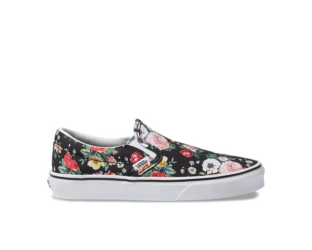 GARDEN FLORAL BLACK TRUE WHITE
