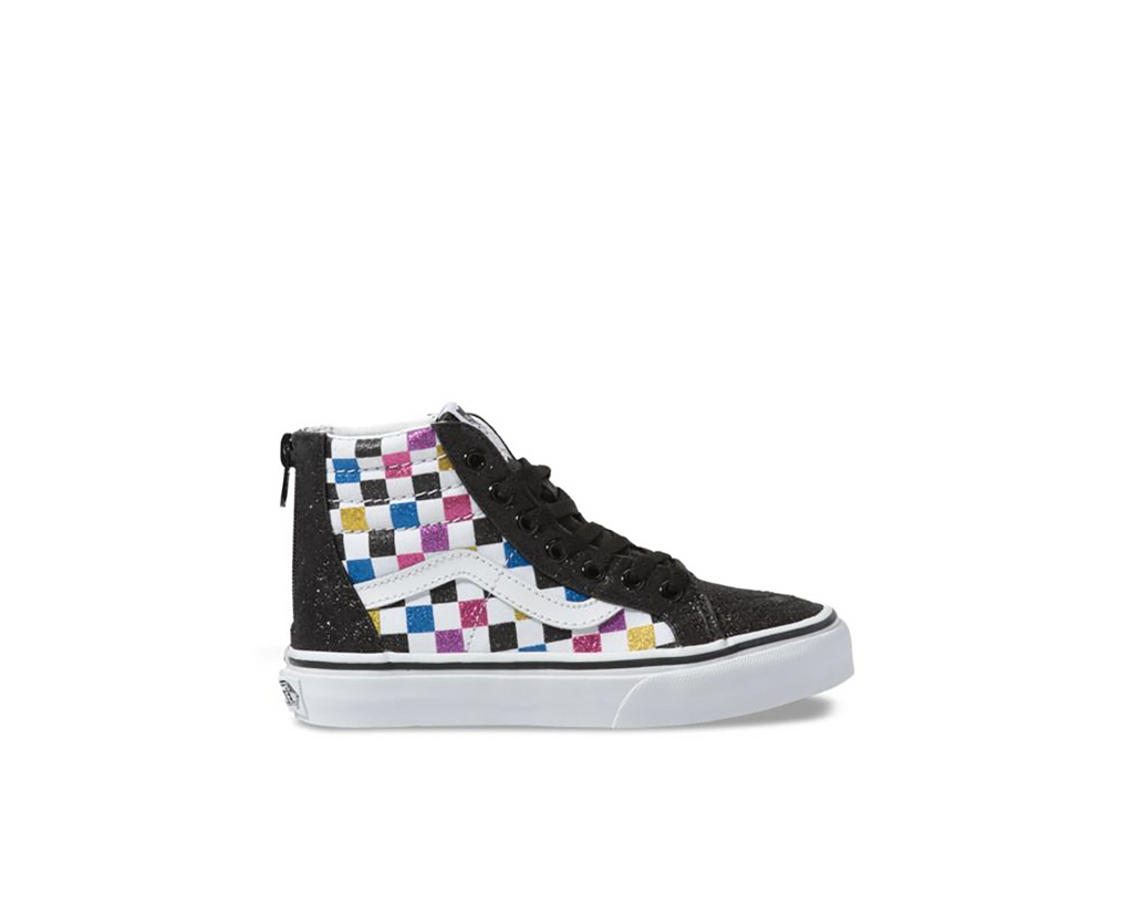 GLITTER CHECKERBOARD BLACK TRUE WHITE