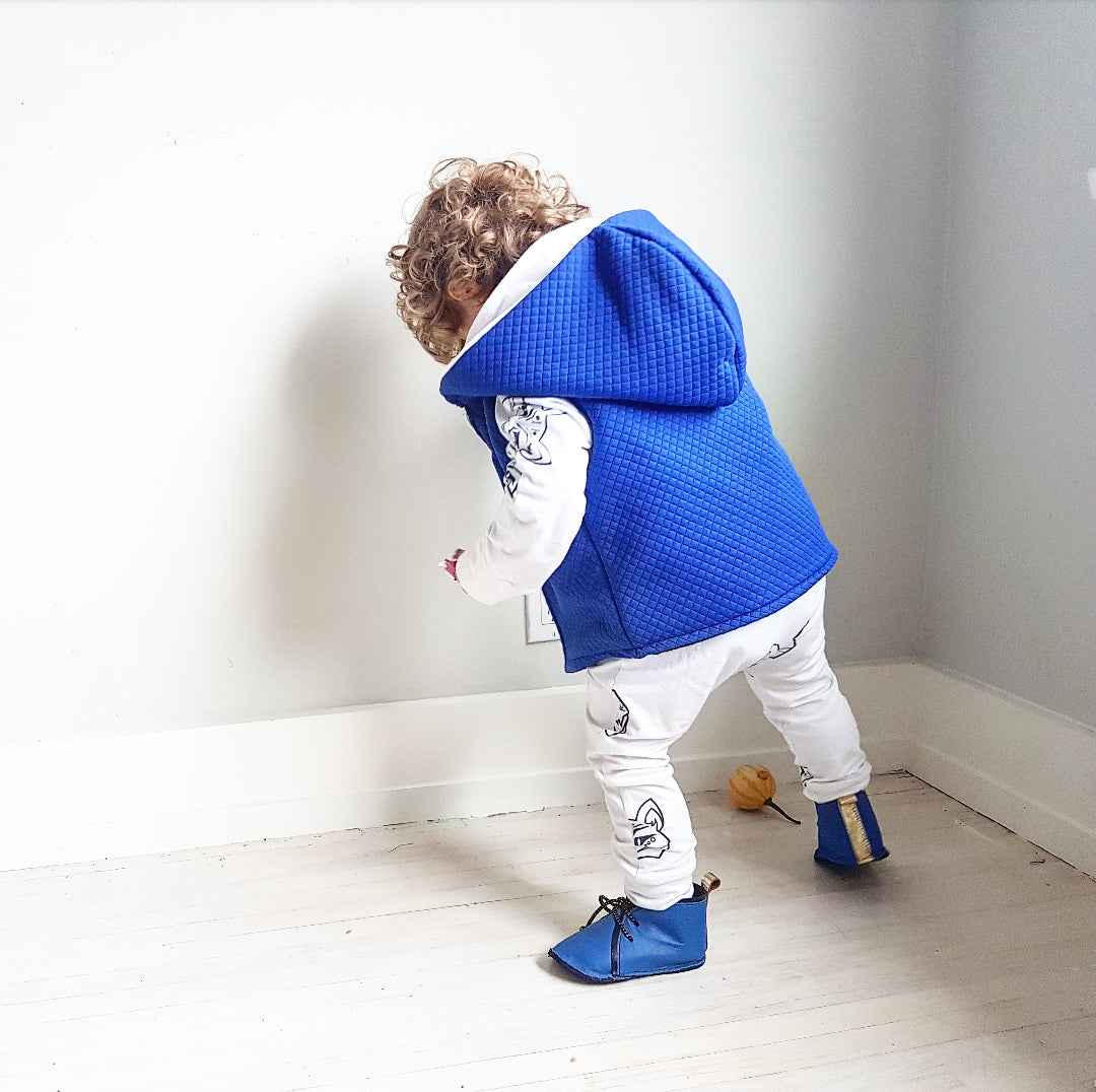 Electric Blue Winter Vest
