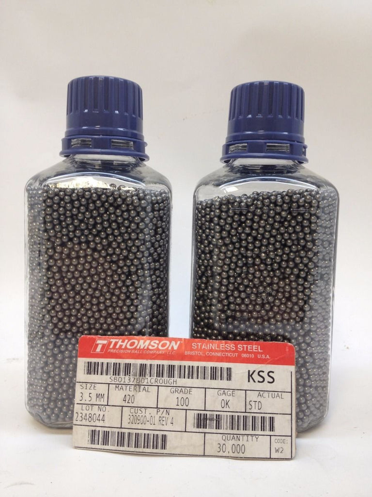 3.5mm Diameter Grade 100 Hardened AISI 420 Stainless Steel Ball Bearings Thomson