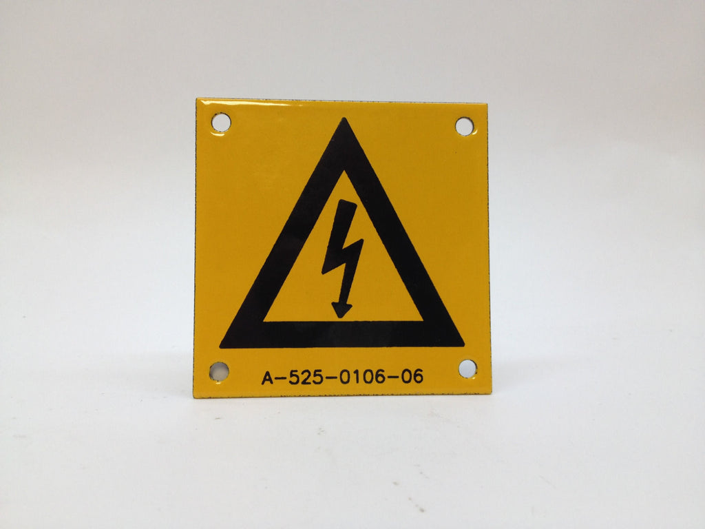 2 Metal Porcelain Enamel Sign WARN High Voltage Electrical Shock Hazard New OSHA