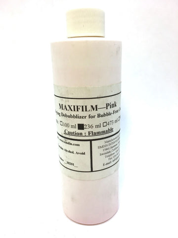 MAXIFILM Pink Fast Drying Debubblizer for Bubble Free Investment Castings 236 ml