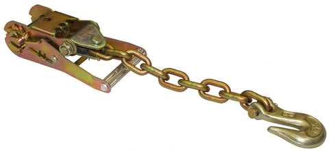 "2"" WIDE HANDLE RATCHET W/CHAIN & CLEVIS GRAB HOOK"