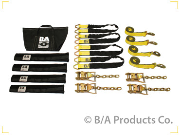 Car Carrier | Soft Vehicle Tie down Kit with Chain end