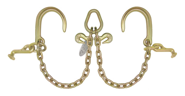 "V Bridles with 8"" J hooks and Mini Hooks"