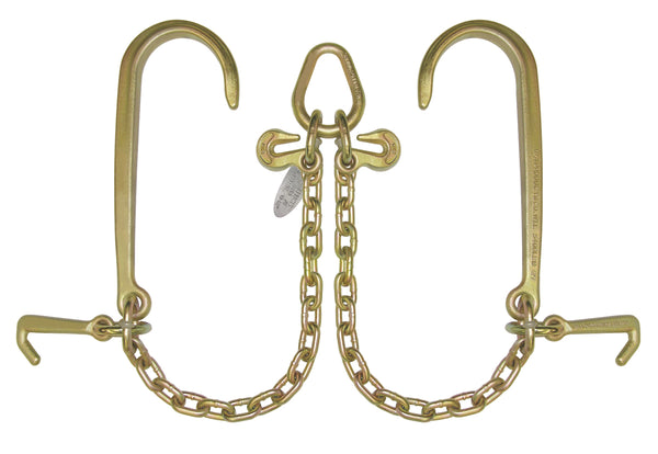 "V Bridles with 15"" J Hooks and mini hooks"
