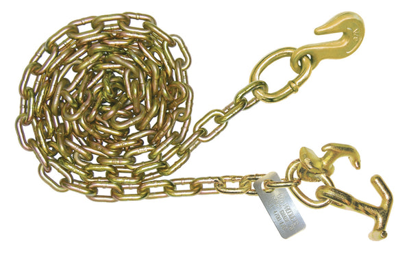 "5/16"" G70 Carrier Saftey Chains W/ Cluster and Grab Hook"