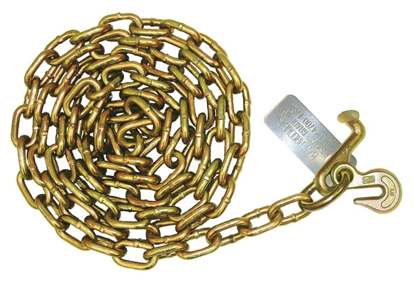 "5/16"" G70 Carrier Safety Chains with Hooks On one end"