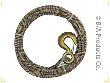 "Light Duty Steel Core Wire Rope/ Winch Line Assemblies 3/8"" and 7/16"""