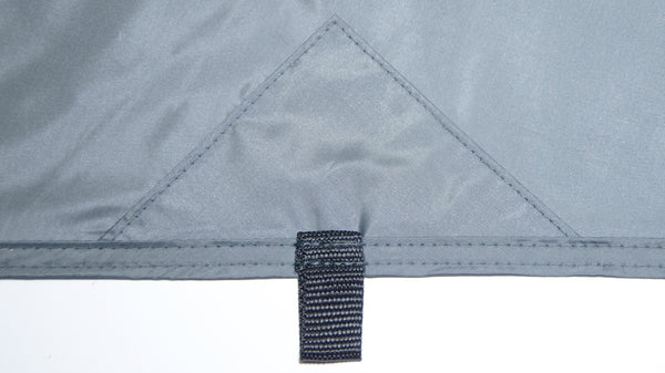 Each of the 20 tie out loops is reinforced for maximum strength. The ridgeline and edge seams are double stitched.