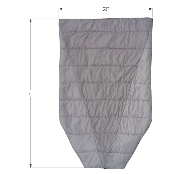 Dimensions of the Adventure Top Quilt Hammock Top Quilt and Sleeping Bag Alternative