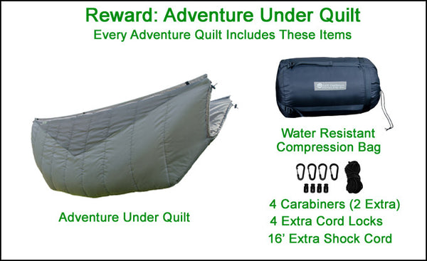 Every Adventure Quilt Includes These Standard Accessories