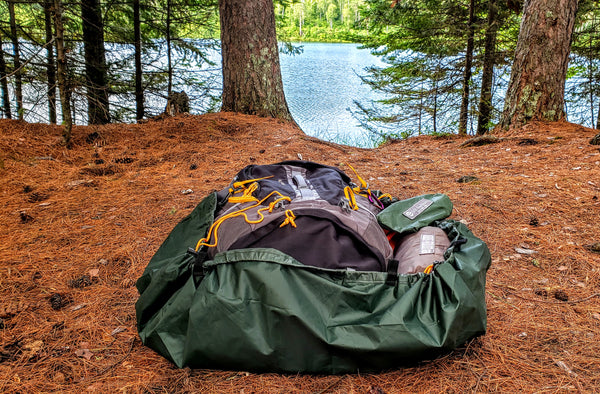 Landing Pad Gear Protector in Bathtub Floor Mode. It can protect your gear anytime you're outdoors or on your next camping trip.