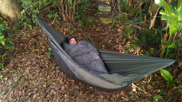 The Adventure Under Quilt is a full length quilt that provides head to toe coverage. Hammock camping has never been this comfortable!