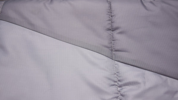 The Liner is Breathable 210T Polyester, the Outer Shell is Calendared 210T Ripstop Polyester