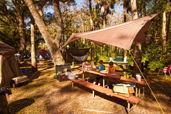 Not just for hammock camping! The Apex makes a great, portable, all-purpose camping tarp and shade canopy. It's one versatile hammock camping rainfly