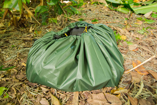 Cinch up the Landing Pad to protect your camping gear whether you are hammock camping or tent camping.