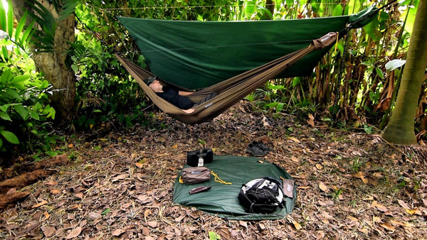 Landing Pad w/ Go Camping Hammock 2.0. It's a versatile gear protector for camping outdoor photography  all outdoor activities