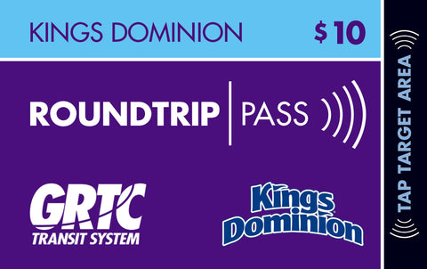 1 Kings Dominion Roundtrip Pass