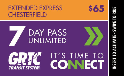 7 Day Extended Express-Chesterfield Pass