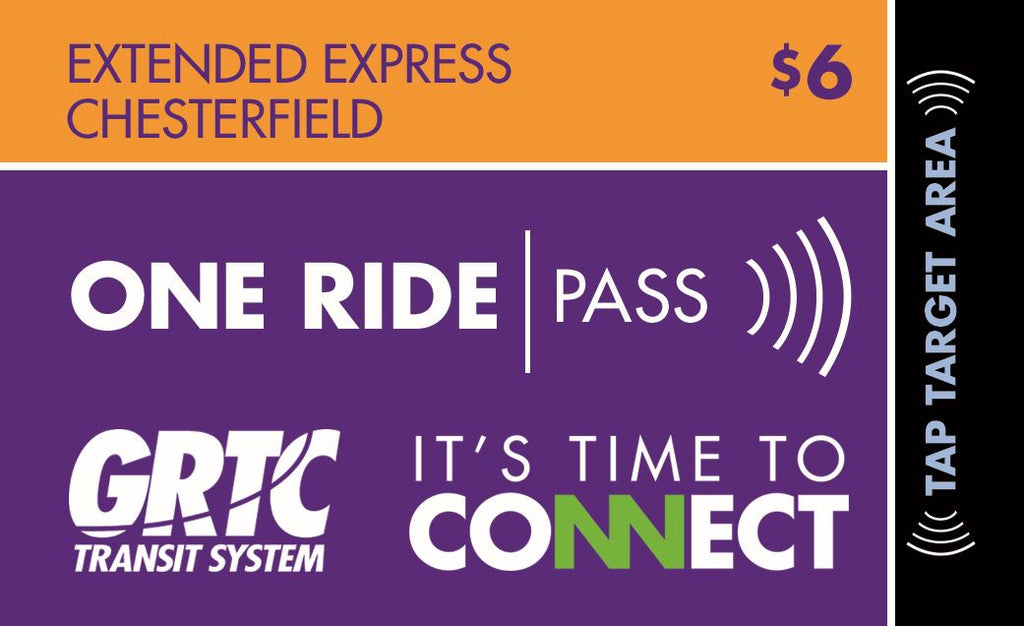 1 Extended Express-Chesterfield One Ride Pass