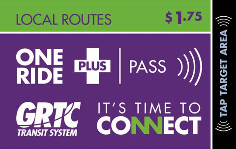 1 Ride Plus Local Routes Pass