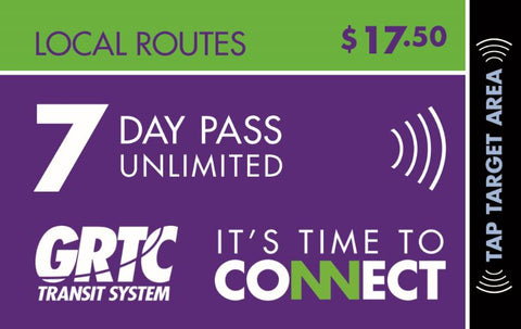 7 Day Local Route Unlimited Pass