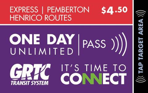 1 Day Express Route Unlimited Pass Pemberton Henrico Routes