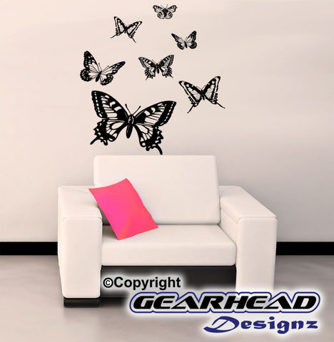 Decorative Butterfly Wall Scene Sticker Gearhead Designz