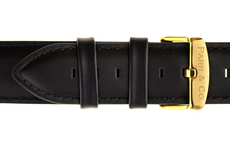 Black Leather Strap | Founder's Edition | Parr & Co.