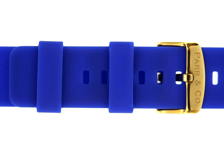 Gold & Blue Silicone | Founder's Edition | Parr & Co.