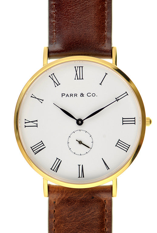 Gold & Brown Leather | Founder's Edition | Parr & Co.