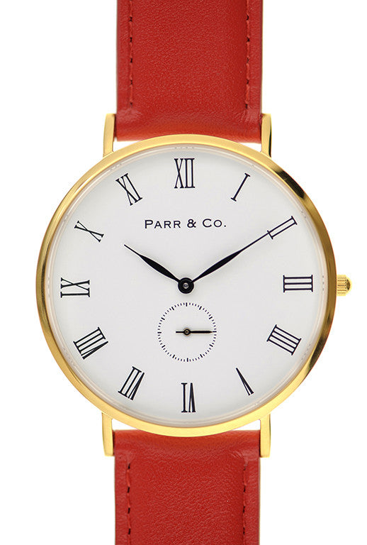 Gold & Red Leather | Founder's Edition | Parr & Co.