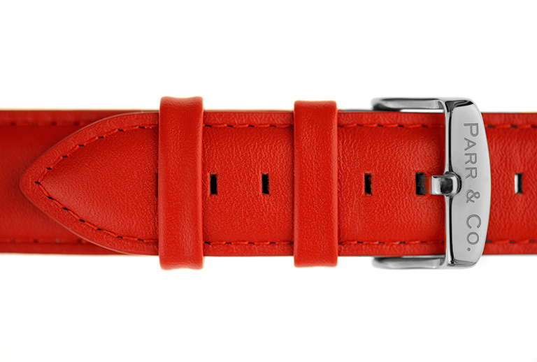 Red Leather Strap | Watch | Parr & Co.