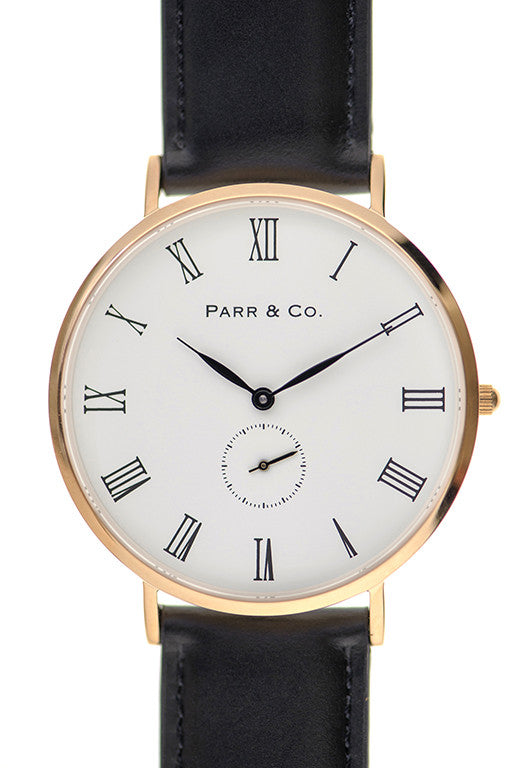 Rose Gold & Black Leather | Founder's Edition | Parr & Co.