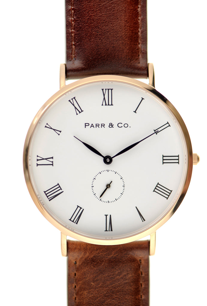 Rose Gold & Brown Leather | Founder's Edition | Parr & Co.