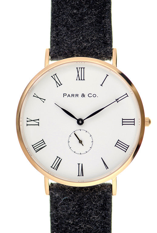 Rose Gold & Dark Gray Tweed | Founder's Edition | Parr & Co.