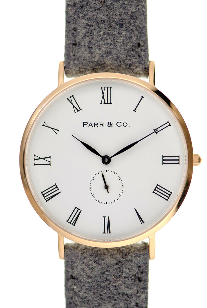 Rose Gold & Light Gray Tweed | Founder's Edition | Parr & Co.